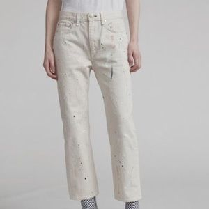 NWT Rag And Bone Paint Splatter Jeans